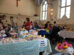 The summer fayre stalls.
