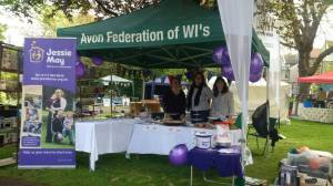 Selling cakes at the Redland Fair.