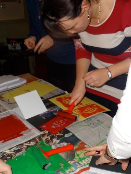 Lino printing